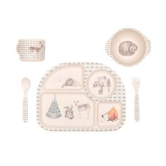 Forest Feast Biodegradable Bamboo Dinner Set from Love Mae