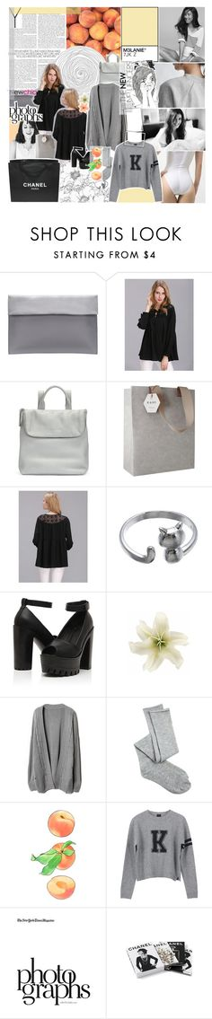 """""""never be like you / newchic style❁"""" by pheachy ❤ liked on Polyvore featuring Whistles, Kami Design, Chanel, Clips, Charlotte Russe and Valentino"""