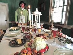 "Where I volunteer at :) ""An 18th Century Dinner at Christmas at Neville House"" #pittsburgh"