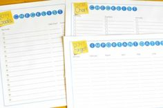2015 Home Management Binder Printables + How to Put Together Your Own Homemaking Binder