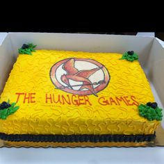 Hunger Games cake designed by Delish Desserts.