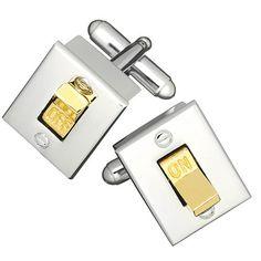 Light Switch Cufflinks by Link Up