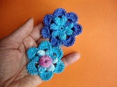 Вязаные цветы Урок 48 Crochet flower pattern Вязание крючком
