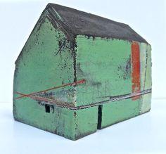 large house £325 Clay Houses, Ceramic Houses, Miniature Houses, Art Houses, Kitsch, 3d Art Projects, Mannequin Art, Concrete Sculpture, Building Art