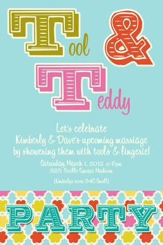 #Tool and #Teddy #Invitation  #Lingerieshower