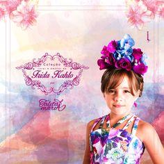 Divulgação desenvolvida para o lançamento da Coleção de roupas infantis Cores e Amores de Frida Kahlo por Talita Maria !!