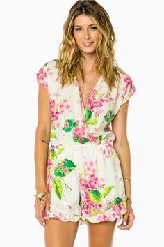 Elise Romper in Blossom