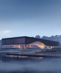 in collaboration with orbicon and SLA, wins the competition for a new waterfront climatorium in lemvig, denmark, scheduled to open in Famous Architecture, Architecture Portfolio, Concept Architecture, Facade Architecture, Architecture Diagrams, Circular Buildings, Win Competitions, Famous Buildings, Library Design