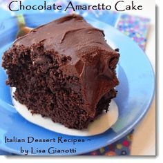 This chocolate amaretto cake is part of my amaretto recipes collection.It's one of those Italian cakes 		that uses a cake mix.See this and over 235 Italian dessert recipes with photos.