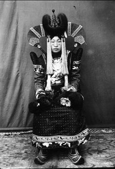 Mongolia 1920s married khalkha Mongol woman
