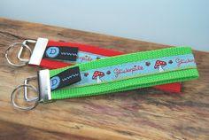 Schlüsselbänder - Schlüsselband / Anhänger - Glückspilz grün - ein Designerstück von DaiSign bei DaWanda
