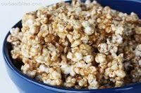 Easy Caramel Popcorn.