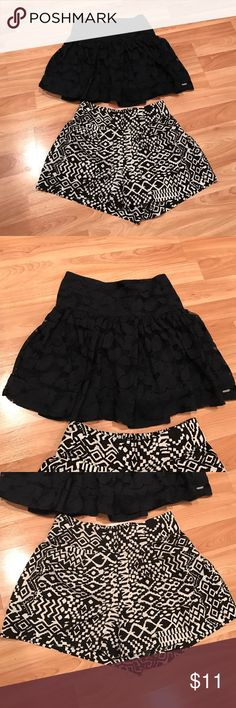 Shorts/skirt bundle! Offer! Size small and like new!! Hot and ready for fun! Black is a skirt! Gilly Hicks Skirts Midi