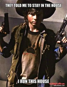 LOL Chandler Riggs as Carl on Walking Dead Carl The Walking Dead, The Walk Dead, Just Keep Walking, Walking Dead Funny, Walking Dead Zombies, Best Tv Shows, Best Shows Ever, Favorite Tv Shows, Twd Memes