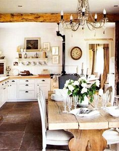 Clean, Crisp U0026 Organized Farmhouse Style Decor Ideas. Old Farmhouse  KitchenCountry ...