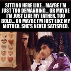 ❤️Prince❤️ Alone in a world that's so cold. So cold . Funny Quotes, Life Quotes, Funny Memes, 80s Quotes, Daily Quotes, Prince Quotes, Prince Meme, Music Memes, Music Puns