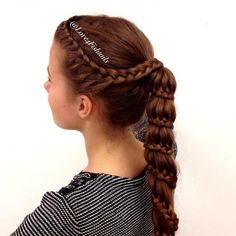 Lace braid into a carousel braid from @love4fishtails