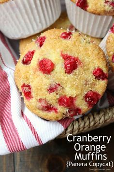 These copycat Panera Cranberry Orange Muffins are the best from scratch jumbo muffins with fresh cranberries, orange zest, and buttermilk! Fresh Cranberry Recipes, Cranberry Bars, Cranberry Orange Muffins, Orange Recipes, Jumbo Muffins, Savory Muffins, Muffin Recipes, Baking Recipes, Buttermilk Recipes