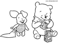 Baby Tigger Coloring Pages | Baby Pooh Coloring Pages - Disney Winnie the Pooh, Tigger, Eeyore and ...