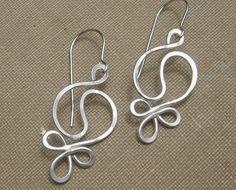 Yin Yang Harmony Sterling Silver Wire Earrings - Hammered Dangle Earrings - Yin Yang Jewelry - Yinyang - Yin Yang Earrings