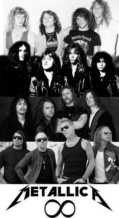 From Dave Mustane who got booted for hard drug use and alcoholism to Cliff Burton who died in a bus crash in 1986. Both were replaced, respectively, by Kurt Hammet who is still with the band; and Jason Newsted who stayed with the band until 2001 until he left the band for creative differences and was replaces by Robert Trujillo.  The complete evolution of Metallica!