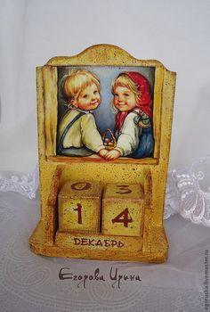 Календари ручной работы. Ярмарка Мастеров - ручная работа. Купить Вечный календарь Счастливое детство.. Handmade. Календарь, для детской комнаты