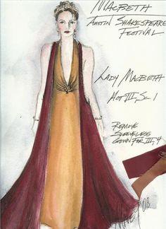 costume design for Lady Macbeth, Austin Shakespeare Festival