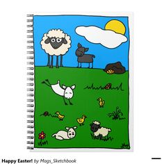 Happy Easter! Spiral Note Books