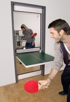 A door that turns into a ping-pong table?