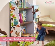 Reading is one of the best habits your child can develop, and we're here to help! Meet our Enchanted Bookshelf where your can safely collect and place all his favorite books! Little Einsteins, Bookshelves Kids, Reading Nook, Your Child, Book Lovers, Enchanted, Woodland, Cool Photos, Kids Room