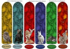Book Mark Series Wild Animals two and Leafs on Craftsuprint - Add To Basket!