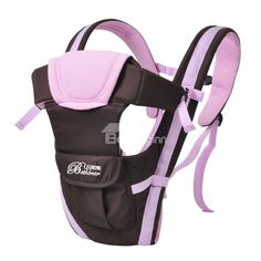 Baby Toddler Sling Carrier-Pink and Brown
