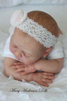 Ylenia reborn baby doll by Elisa Marx reborned by Mary Anderson Dolls