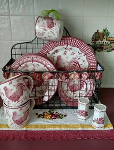 Queens Rooster China Display