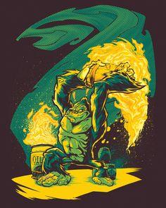 Barrel-Chucker Art Print by BeastWreck