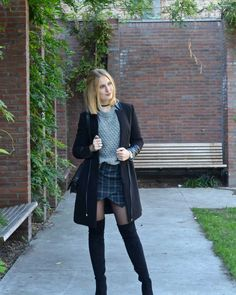 Polished Cats: Outfit - Over the Knee Tartan