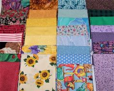 Fabric Fat Quarters Material Lot of 30 18 x 22 Flower Cats Star Solid Strip Dot