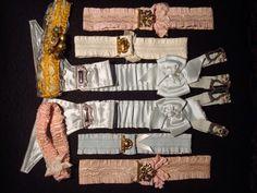 1920s silk and satin garters.