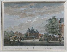Gezicht op de Nieuw Markt te Amsterdam 1767, ingekleurde ets  Mooie ets van Amsterdam door Fouquet, misschien wel de beroemdste 18e eeuwse uitgever van Amsterdamse voorstellingen. De ets is origineel uit de tijd, heeft een authentieke inkleuring. Het is afkomstig uit het atlas van 1783. ( C.Philips Jacobsz.ad viv. del.et fecit 1767 ).  28x36 cm