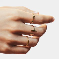 0b6653cc Open arrow ring - Open spike ring - Thin ring - Gold ring - Open ring -  Stacking ring - Minimalist ring - Dainty ring - Minimalist jewelry