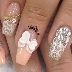 In seek out some nail designs and ideas for the nails? Here is our list of 37 must-try coffin acrylic nails for trendy women. Fabulous Nails, Gorgeous Nails, Pretty Nails, Amazing Nails, French Nails Glitter, Glitter Nail Art, Hot Nails, Hair And Nails, Manicure Gel