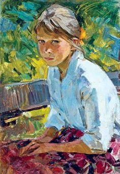 Girl en el Garden. Obra de Maria Rudnitskaya. Publicada por Sergey Redphill