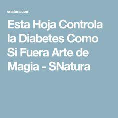 Esta Hoja Controla la Diabetes Como Si Fuera Arte de Magia - SNatura