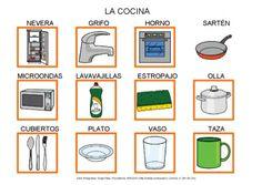 La cocina by Dana Horodetchi, via Slideshare Autism Activities, Preschool Education, Spanish Lessons, Teaching Spanish, Romanian Language, Worksheets For Kids, Teacher, Master Chef, Languages