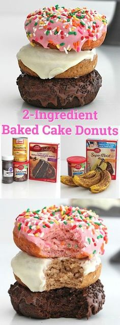 2-Ingredient Baked Cake Donuts