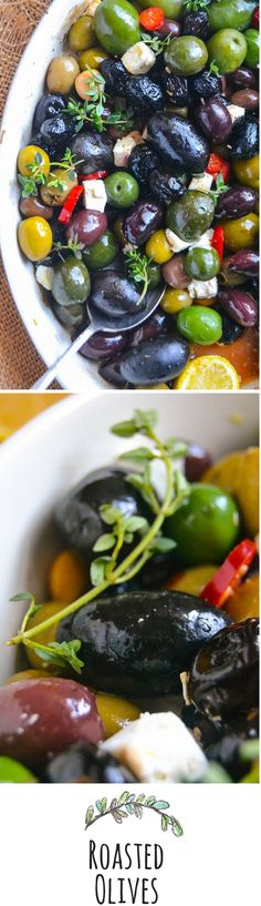 When you want to enjoy your own party, make these elegant roasted olives, no fussing required!