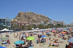 Alicante beach and Santa Barbara Castle
