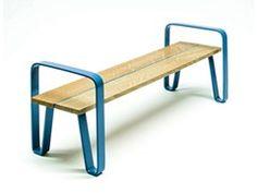 - Banco en acero y madera sin respaldo COURT | Banco sin respaldo - LAB23 Gibillero Design Collection