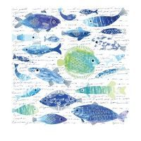 Nažehlovací nálepka, 43x43cm, ryby s nápisy Fish, Pets, Animals, Animales, Animaux, Animal, Animais, Dieren
