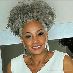 Messy French Roll Hairstyle - 30 Easy and Stylish Casual Updos for Long Hair - The Trending Hairstyle Grey Hair Ponytail, Afro Ponytail, Bun Hairstyles For Long Hair, Weave Hairstyles, Layered Hairstyles, Grey Hair Pieces, Casual Updos For Long Hair, Ombre Human Hair Extensions, Hair Extension Clips